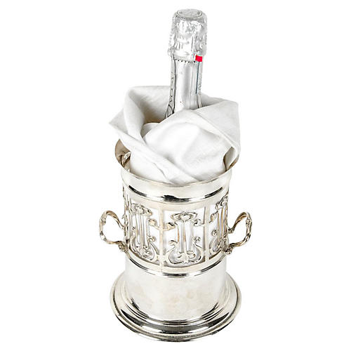 Silver-Plate Wine Caddy