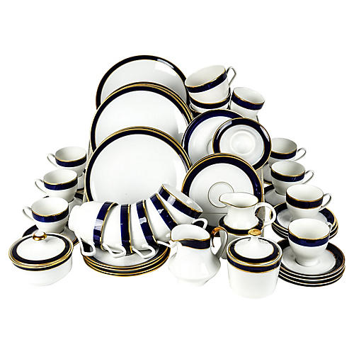 Porcelain Brunch Service, 39 Pcs