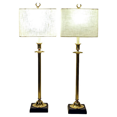 Candle Stick Brass Lamps