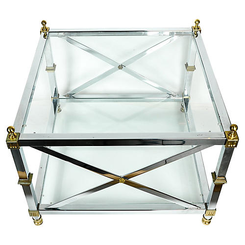 Midcentury Glass Coffee Table