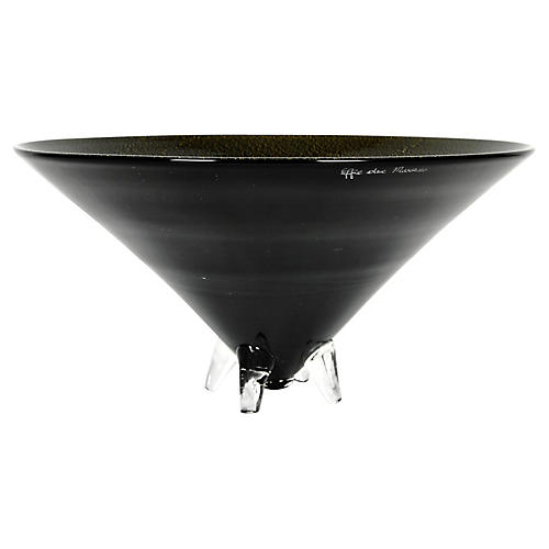Art Deco-Style Footed Centerpiece Bowl