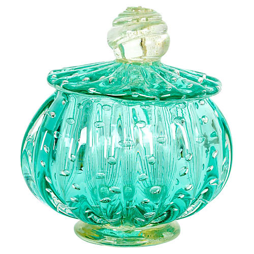 Murano Glass Vanity Jar