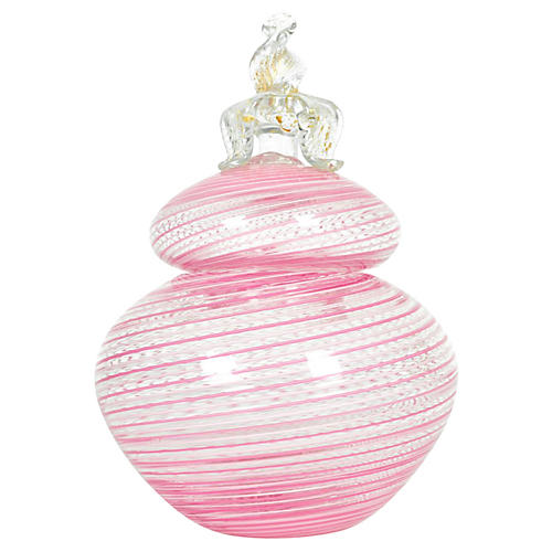 Pink Murano Glass Jar