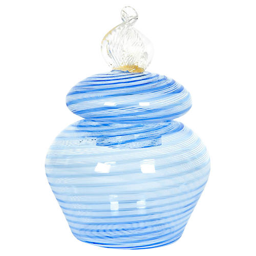 Lidded Murano Glass Jar