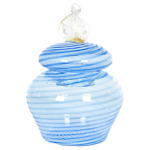 Lidded Murano Glass Jar