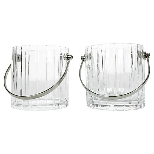 Baccarat Crystal Buckets, S/2