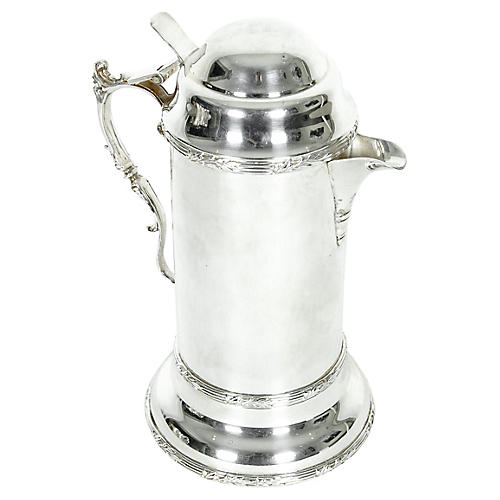 English Silver-Plated Pitcher