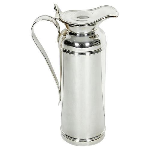 Art Deco Silver Thermos