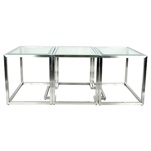 Brushed Nickel Coffee Table