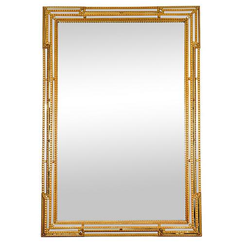 Giltwood Frame Beveled Mantel Mirror