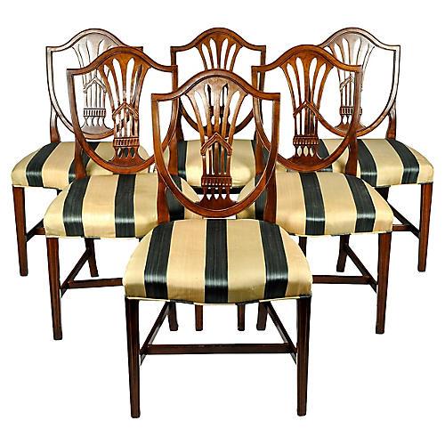 Mahogany Dining Chairs, S/6