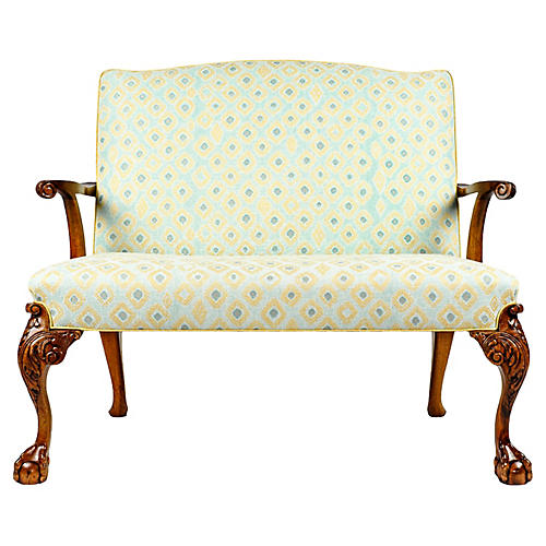19th-C. Chippendale-Style Settees, S/2
