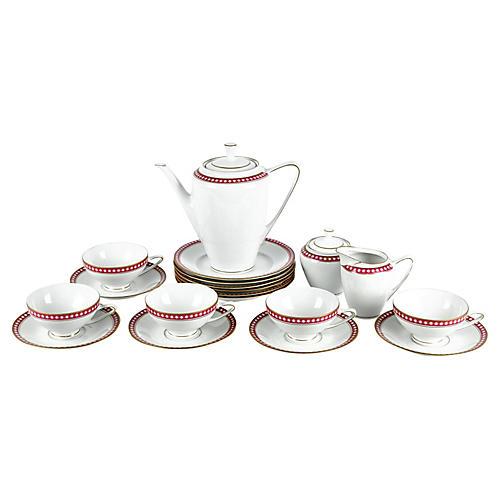 German Porcelain Luncheon Set, 18 Pcs