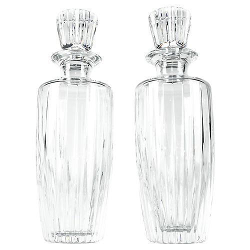 Cut-Crystal Decanters, Pair