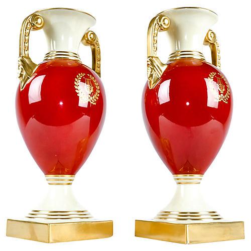 Lenox Porcelain Vases, Pair