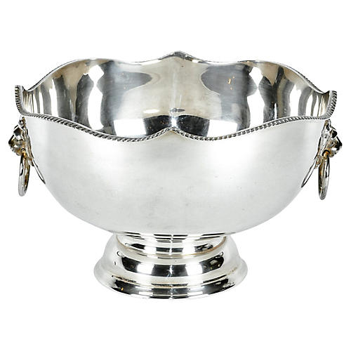English Silver-Plated Wine Cooler