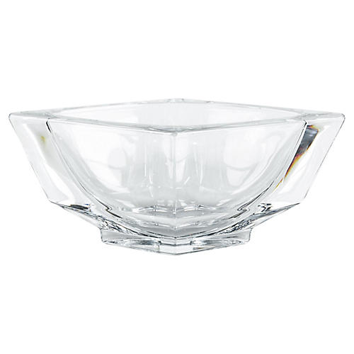 French Art Deco Crystal Bowl