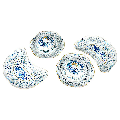 Porcelain Serving Set, 4 Pcs