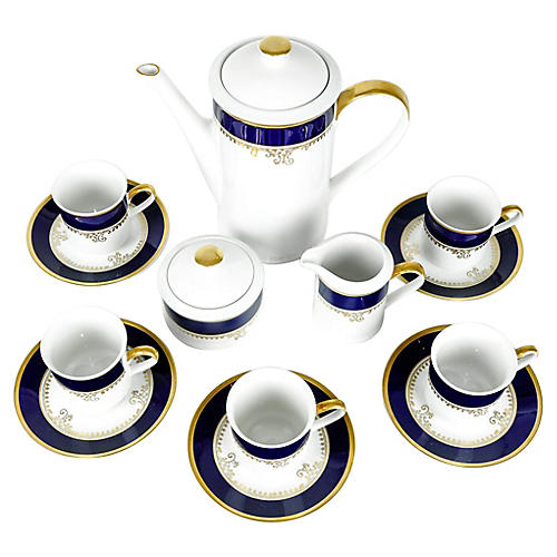 German Porcelain Tea Set, Svc for 5