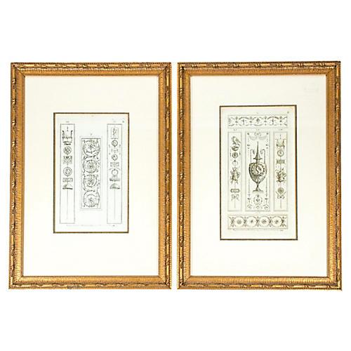 Midcentury Prints, Pair