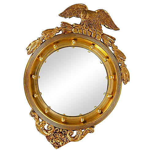 Giltwood Federal Convex Mirror