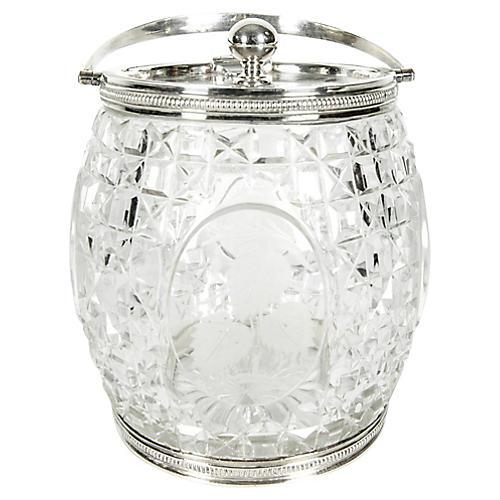Cut-Crystal Ice Bucket