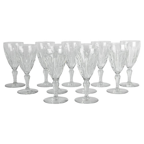 Baccarat Crystal Wineglasses, S/11