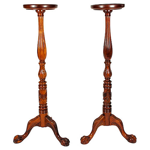 Mid 20th Century Plant Stands, Pair