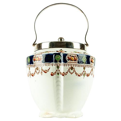 English Porcelain Ice Bucket