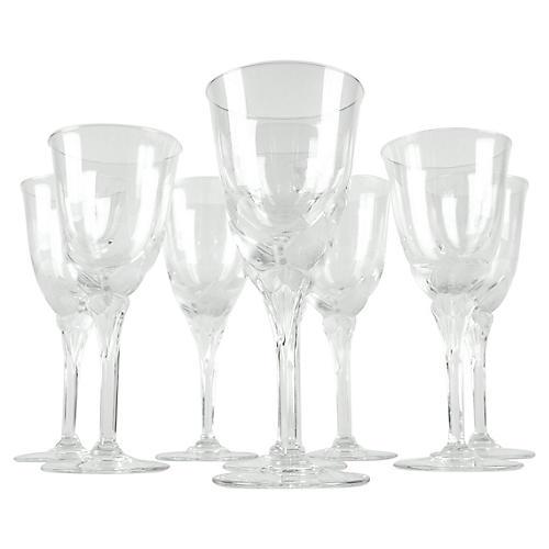 Crystal Wineglasses, S/8
