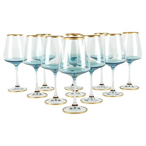 Crystal Wineglasses, S/11