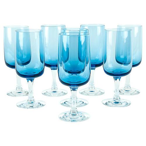 Vintage Crystal Wine Glassware Set 8 Pcs