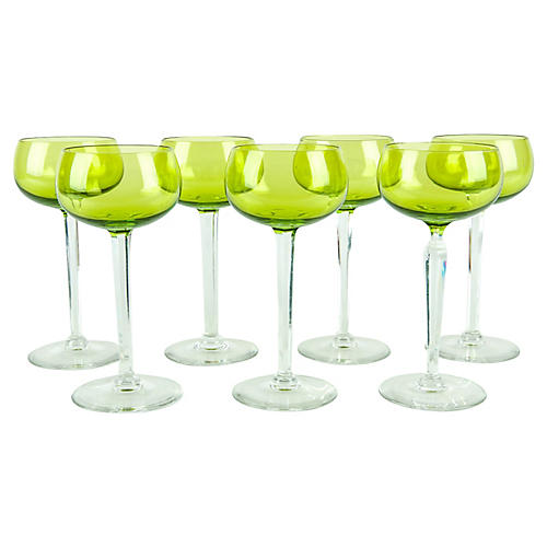 Vintage Line Crystal Wine Barware Set .