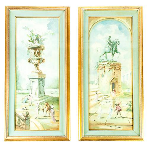 Statue Prints, S/2