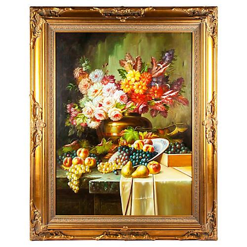 Bouquet & Fruit Still Life