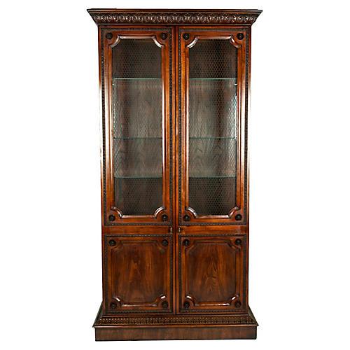 Vintage Bookcase Vitrine Cabinet