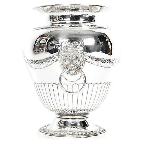 Old Sheffield Silver Decorative Vase