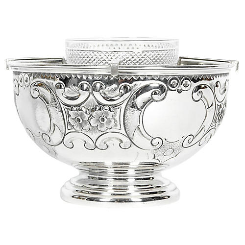 Old Sheffield Silver-Plate Caviar Set