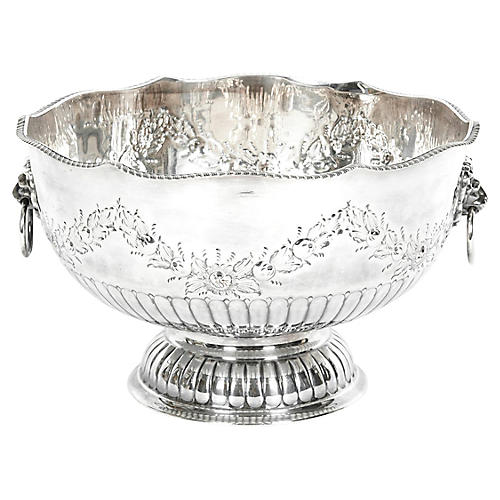 Large English Silver-Plate Bowl