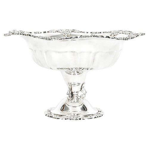 Silver-Plate Baroque Style Fruit Bowl