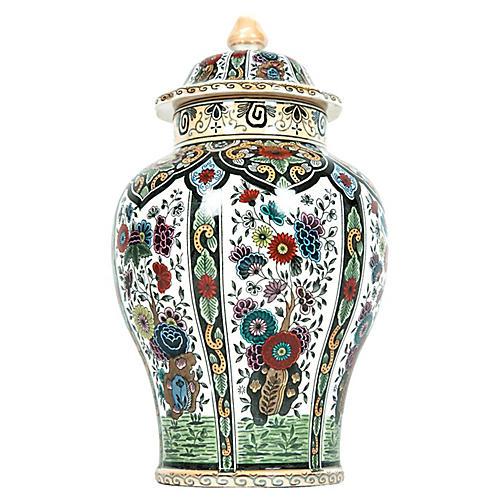 Dutch Porcelain Covered Urn