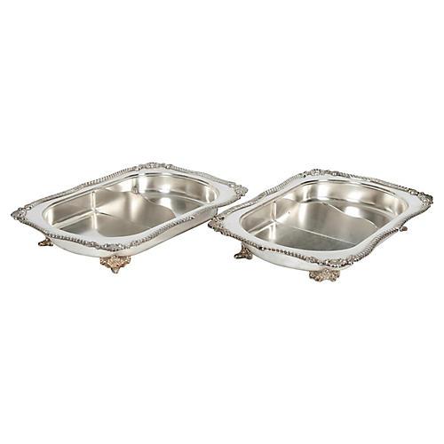 English Pair Tableware / Server Pieces.