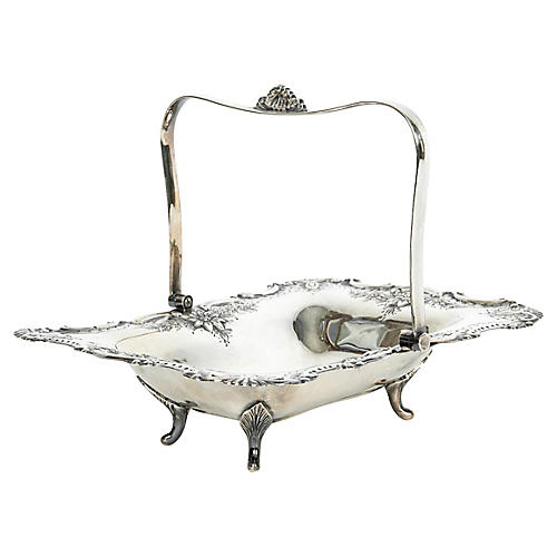 English Silver-Plate Table Basket