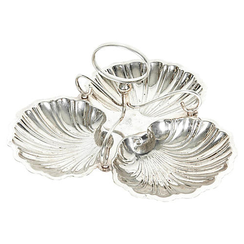 English Silver-Plated Nut Bowl
