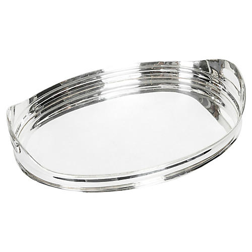 Mid-Century Modern Silver-Plate Tray