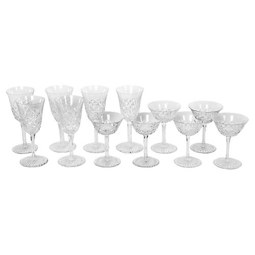 Vintage Baccarat Set Wine/ Coupe Glass.