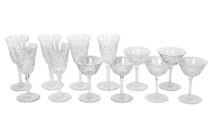 Vintage Baccarat Set Wine/ Coupe Glass.