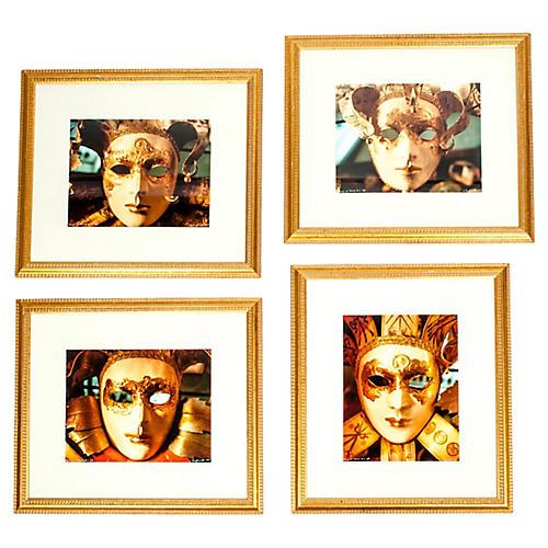 Masks of Venice Prints, S/4
