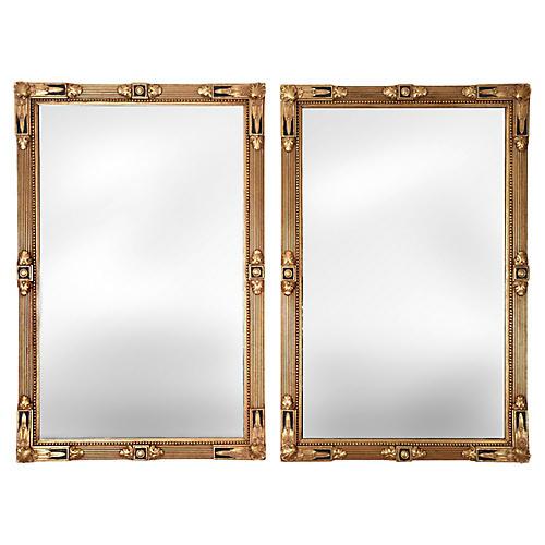Giltwood Wall Mirrors, Pair