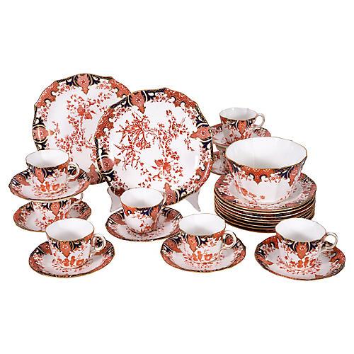 Antique English Porcelain Luncheon Set